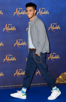 "LONDON, ENGLAND - MAY 10: Mena Massoud attends the photocall to celebrate release of Disney's ""Aladdin"" at The Rosewood Hotel on May 10, 2019 in London, England. (Photo by Gareth Cattermole/Gareth Cattermole/Getty Images for Disney)"