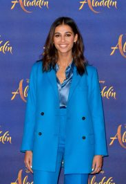 """LONDON, ENGLAND - MAY 10: Naomi Scott attends the photocall to celebrate release of Disney's """"Aladdin"""" at The Rosewood Hotel on May 10, 2019 in London, England. (Photo by Gareth Cattermole/Gareth Cattermole/Getty Images for Disney)"""