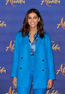 "LONDON, ENGLAND - MAY 10: Naomi Scott attends the photocall to celebrate release of Disney's ""Aladdin"" at The Rosewood Hotel on May 10, 2019 in London, England. (Photo by Gareth Cattermole/Gareth Cattermole/Getty Images for Disney)"