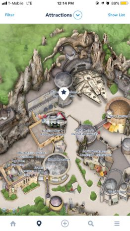 Star Wars: Galaxy's Edge on Disneyland App