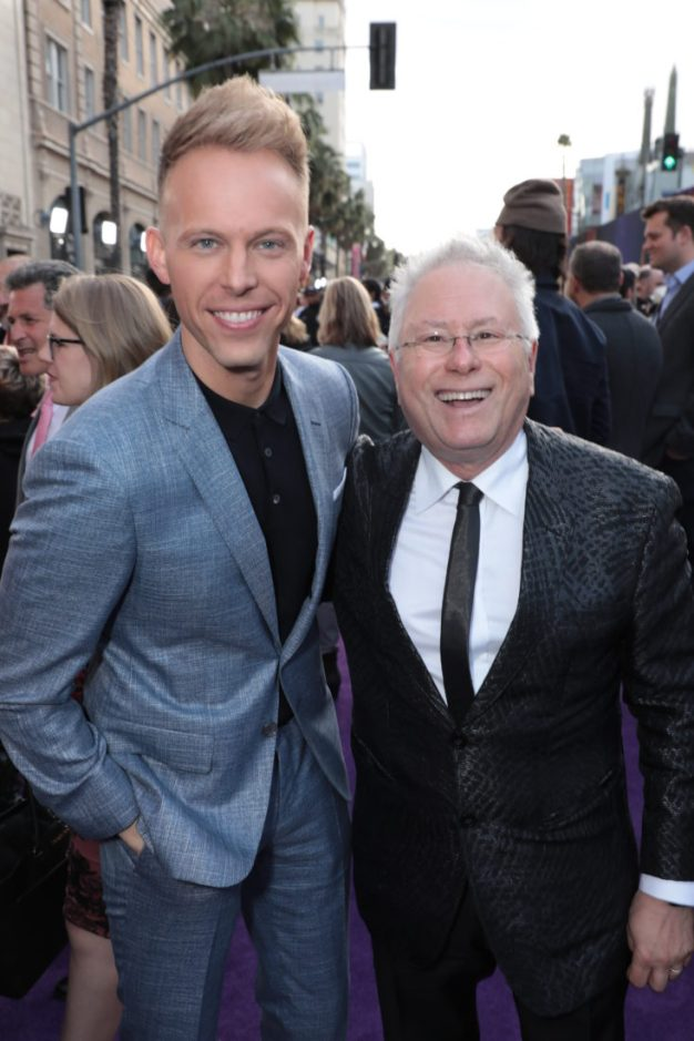 Justin Paul and Alan Menken attend the World Premiere of DisneyÕs Aladdin at the El Capitan Theater in Hollywood, CA on Tuesday, May 21, 2019, in the culmination of the filmÕs Magic Carpet World Tour with stops in Paris, London, Berlin, Tokyo, Mexico City and Amman, Jordan. (photo: Alex J. Berliner/ABImages)