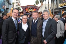 Peter Rice, Alan Bergman, Director Guy Ritchie and Alan Horn attend the World Premiere of DisneyÕs Aladdin at the El Capitan Theater in Hollywood, CA on Tuesday, May 21, 2019, in the culmination of the filmÕs Magic Carpet World Tour with stops in Paris, London, Berlin, Tokyo, Mexico City and Amman, Jordan. (photo: Alex J. Berliner/ABImages)