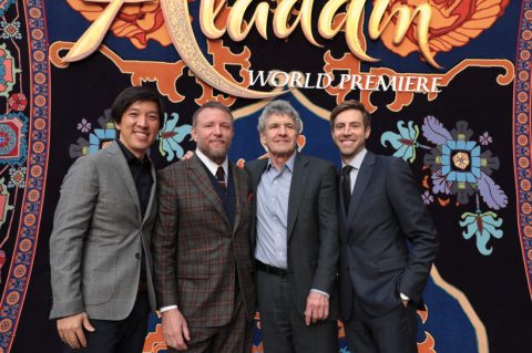 Producer Dan Lim, Guy Ritchie, Alan Horn and Producer Jonathan Eirich attend the World Premiere of DisneyÕs Aladdin at the El Capitan Theater in Hollywood, CA on Tuesday, May 21, 2019, in the culmination of the filmÕs Magic Carpet World Tour with stops in Paris, London, Berlin, Tokyo, Mexico City and Amman, Jordan. (photo: Alex J. Berliner/ABImages)