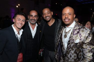 Nicky Andersen, Navid Negahban, Will Smith and Jamal Sims attend the World Premiere of DisneyÕs Aladdin after party at the Roosevelt Hotel in Hollywood, CA on Tuesday, May 21, 2019, in the culmination of the filmÕs Magic Carpet World Tour with stops in Paris, London, Berlin, Tokyo, Mexico City and Amman, Jordan. (photo: Alex J. Berliner/ABImages)