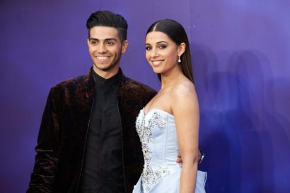 Mena Massoud (L) and Naomi Scott attend the European Gala Screening of DisneyÕs ÒAladdinÓ on May 9th at LondonÕs ODEON Luxe in Leicester Square, London UK.