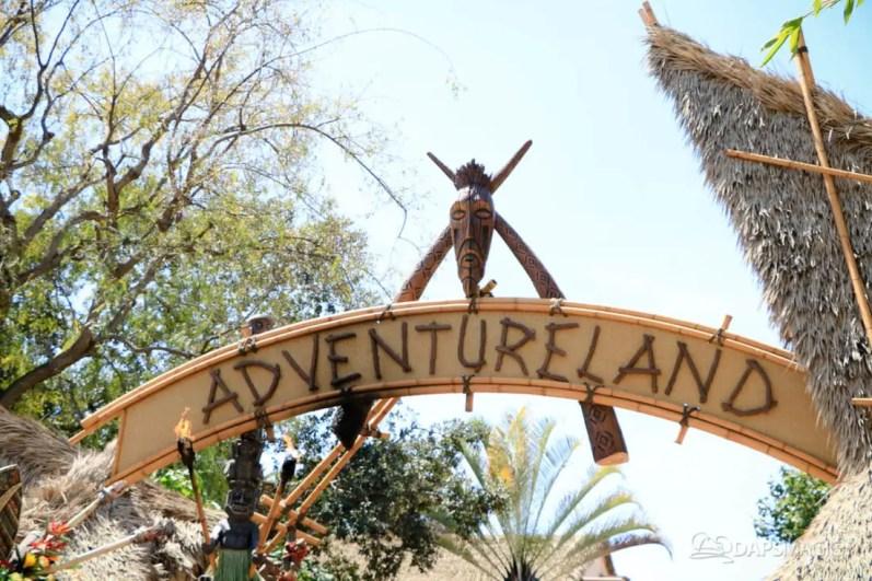 Original Adventureland Sign at Disneyland