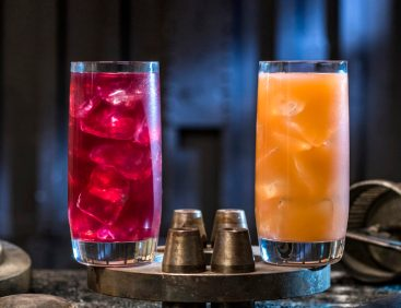 Innovative and creative drinks from around the galaxy will be available at Star Wars: GalaxyÕs Edge when it opens May 31, 2019, at Disneyland Park in Anaheim, Calif., and Aug. 29, 2019, at Disney's Hollywood Studios in Lake Buena Vista, Fla. Left to right, non-alcoholic beverages: the Phattro and Moof Juice can be found at Docking Bay 7 Food and Cargo inside Star Wars: GalaxyÕs Edge. (David Roark/Disney Parks)
