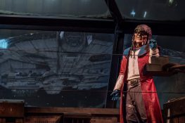 The notorious Weequay pirate, Hondo Ohnaka, gives guests their mission prior to boarding Millennium Falcon: Smugglers Run at Star Wars: GalaxyÕs Edge at Disneyland Park in Anaheim, California, and at Disney's Hollywood Studios in Lake Buena Vista, Florida. (Richard Harbaugh/Disney Parks)