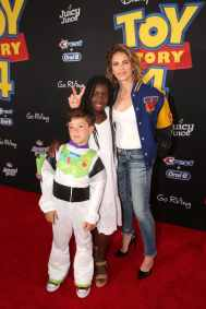 HOLLYWOOD, CA - JUNE 11: Jillian Michaels (R) and family attend the world premiere of Disney and Pixar's TOY STORY 4 at the El Capitan Theatre in Hollywood, CA on Tuesday, June 11, 2019. (Photo by Jesse Grant/Getty Images for Disney) *** Local Caption *** Jillian Michaels