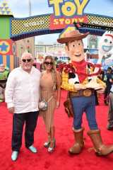 HOLLYWOOD, CA - JUNE 11: (L-R) John Ratzenberger and Julie Blichfeldt attend the world premiere of Disney and Pixar's TOY STORY 4 at the El Capitan Theatre in Hollywood, CA on Tuesday, June 11, 2019. (Photo by Alberto E. Rodriguez/Getty Images for Disney) *** Local Caption *** Julie Blichfeldt; John Ratzenberger