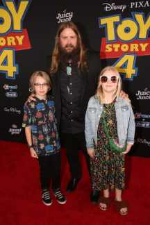 HOLLYWOOD, CA - JUNE 11: Chris Stapleton and family attend the world premiere of Disney and Pixar's TOY STORY 4 at the El Capitan Theatre in Hollywood, CA on Tuesday, June 11, 2019. (Photo by Jesse Grant/Getty Images for Disney) *** Local Caption *** Chris Stapleton