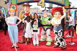 HOLLYWOOD, CA - JUNE 11: Jillian Michaels (C) and family attend the world premiere of Disney and Pixar's TOY STORY 4 at the El Capitan Theatre in Hollywood, CA on Tuesday, June 11, 2019. (Photo by Alberto E. Rodriguez/Getty Images for Disney) *** Local Caption *** Jillian Michaels
