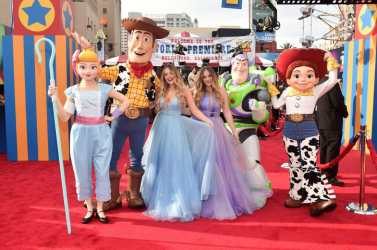 HOLLYWOOD, CA - JUNE 11: Lydia Connell and Lucy Connell attend the world premiere of Disney and Pixar's TOY STORY 4 at the El Capitan Theatre in Hollywood, CA on Tuesday, June 11, 2019. (Photo by Alberto E. Rodriguez/Getty Images for Disney) *** Local Caption *** Lydia Connell; Lucy Connell