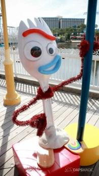 Forky on Pixar Pier at Disney California Adventure