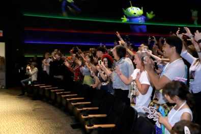 ORLANDO, FLORIDA - JUNE 08: Fans in the audience at an early screening of Pixar's TOY STORY 4 at Disney's Hollywood Studios on June 08, 2019 in Orlando, Florida. (Photo by John Parra/Getty Images for Disney)