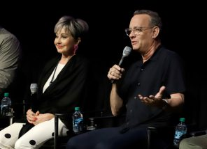 ORLANDO, FLORIDA - JUNE 08: Annie Potts and Tom Hanks attend the Global Press Junket for Pixar's TOY STORY 4 at Disney's Hollywood Studios on June 08, 2019 in Orlando, Florida. (Photo by John Parra/Getty Images for Disney)