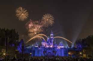 "The Disneyland Resort transforms into the Merriest Place on Earth for the holiday season, Nov. 8, 2019, through Jan. 6, 2020. Among the merriment, in the evening at Disneyland Park, the spectacular ""Believe … in Holiday Magic"" fireworks spectacular and its magical snowfall finale create lasting holiday memories for guests. (Joshua Sudock/Disneyland Resort)"