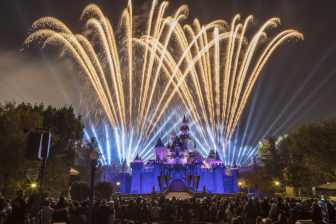 """The Disneyland Resort transforms into the Merriest Place on Earth for the holiday season, Nov. 8, 2019, through Jan. 6, 2020. Among the merriment, in the evening at Disneyland Park, the spectacular """"Believe … in Holiday Magic"""" fireworks spectacular and its magical snowfall finale create lasting holiday memories for guests. (Joshua Sudock/Disneyland Resort)"""