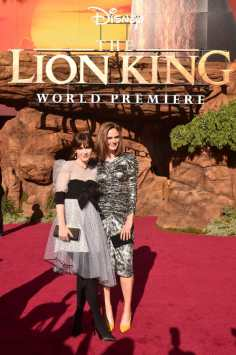 "HOLLYWOOD, CALIFORNIA - JULY 09: Zooey Deschanel and Emily Deschanel attend the World Premiere of Disney's ""THE LION KING"" at the Dolby Theatre on July 09, 2019 in Hollywood, California. (Photo by Alberto E. Rodriguez/Getty Images for Disney)"