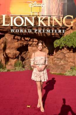 "HOLLYWOOD, CALIFORNIA - JULY 09: Maia Mitchell attends the World Premiere of Disney's ""THE LION KING"" at the Dolby Theatre on July 09, 2019 in Hollywood, California. (Photo by Alberto E. Rodriguez/Getty Images for Disney)"