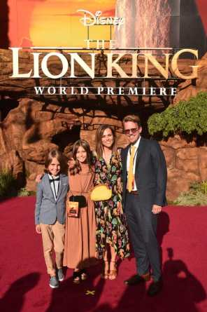 "HOLLYWOOD, CALIFORNIA - JULY 09: Visual effects artist Andy Jones (R) and guests attend the World Premiere of Disney's ""THE LION KING"" at the Dolby Theatre on July 09, 2019 in Hollywood, California. (Photo by Alberto E. Rodriguez/Getty Images for Disney)"