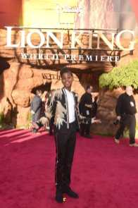 "HOLLYWOOD, CALIFORNIA - JULY 09: JD McCrary attends the World Premiere of Disney's ""THE LION KING"" at the Dolby Theatre on July 09, 2019 in Hollywood, California. (Photo by Alberto E. Rodriguez/Getty Images for Disney)"