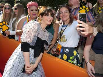"HOLLYWOOD, CALIFORNIA - JULY 09: Zooey Deschanel attends the World Premiere of Disney's ""THE LION KING"" at the Dolby Theatre on July 09, 2019 in Hollywood, California. (Photo by Charley Gallay/Getty Images for Disney)"