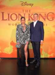 "HOLLYWOOD, CALIFORNIA - JULY 09: Beyonce Knowles-Carter and The Walt Disney Company Chairman and CEO Bob Iger attend the World Premiere of Disney's ""THE LION KING"" at the Dolby Theatre on July 09, 2019 in Hollywood, California. (Photo by Charley Gallay/Getty Images for Disney)"
