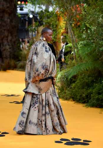 "LONDON, ENGLAND - JULY 14: Florence Kasumba attends the European Premiere of Disney's ""The Lion King"" at Odeon Luxe Leicester Square on July 14, 2019 in London, England. (Photo by Gareth Cattermole/Getty Images for Disney)"