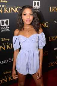 "HOLLYWOOD, CALIFORNIA - JULY 09: Teala Dunn attends the World Premiere of Disney's ""THE LION KING"" at the Dolby Theatre on July 09, 2019 in Hollywood, California. (Photo by Jesse Grant/Getty Images for Disney)"