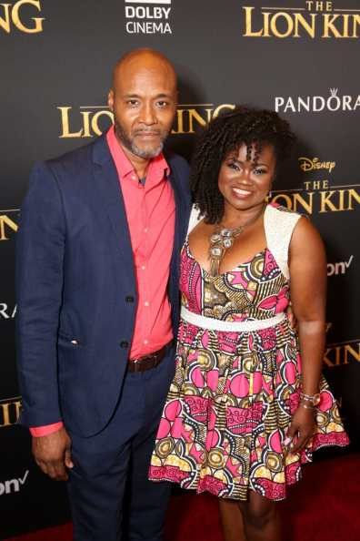 "HOLLYWOOD, CALIFORNIA - JULY 09: Donovan Harris (L) and Niketa Calame-Harris attend the World Premiere of Disney's ""THE LION KING"" at the Dolby Theatre on July 09, 2019 in Hollywood, California. (Photo by Jesse Grant/Getty Images for Disney)"