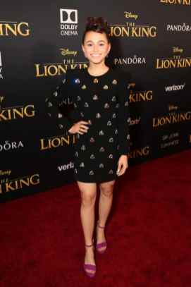 "HOLLYWOOD, CALIFORNIA - JULY 09: Sky Katz attends the World Premiere of Disney's ""THE LION KING"" at the Dolby Theatre on July 09, 2019 in Hollywood, California. (Photo by Jesse Grant/Getty Images for Disney)"