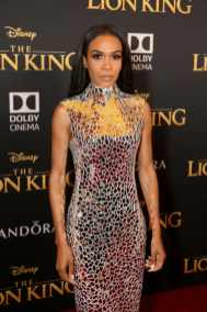 """HOLLYWOOD, CALIFORNIA - JULY 09: Michelle Williams attends the World Premiere of Disney's """"THE LION KING"""" at the Dolby Theatre on July 09, 2019 in Hollywood, California. (Photo by Jesse Grant/Getty Images for Disney)"""