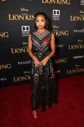 "HOLLYWOOD, CALIFORNIA - JULY 09: Navia Robinson attends the World Premiere of Disney's ""THE LION KING"" at the Dolby Theatre on July 09, 2019 in Hollywood, California. (Photo by Jesse Grant/Getty Images for Disney)"
