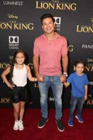 "HOLLYWOOD, CALIFORNIA - JULY 09: (L-R) Gia Francesca Lopez, Mario Lopez, and Dominic Lopez attend the World Premiere of Disney's ""THE LION KING"" at the Dolby Theatre on July 09, 2019 in Hollywood, California. (Photo by Jesse Grant/Getty Images for Disney)"