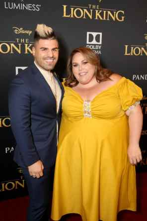 "HOLLYWOOD, CALIFORNIA - JULY 09: Matt Bloyd and Chrissy Metz attend the World Premiere of Disney's ""THE LION KING"" at the Dolby Theatre on July 09, 2019 in Hollywood, California. (Photo by Jesse Grant/Getty Images for Disney)"