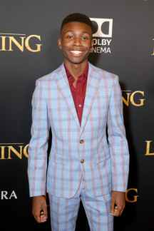 "HOLLYWOOD, CALIFORNIA - JULY 09: Niles Fitch attends the World Premiere of Disney's ""THE LION KING"" at the Dolby Theatre on July 09, 2019 in Hollywood, California. (Photo by Jesse Grant/Getty Images for Disney)"
