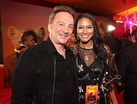 "HOLLYWOOD, CALIFORNIA - JULY 09: Louis D'Esposito (L) and guest attend the World Premiere of Disney's ""THE LION KING"" at the Dolby Theatre on July 09, 2019 in Hollywood, California. (Photo by Jesse Grant/Getty Images for Disney)"