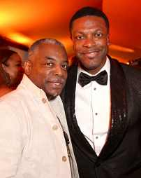 "HOLLYWOOD, CALIFORNIA - JULY 09: LeVar Burton and Chris Tucker attend the World Premiere of Disney's ""THE LION KING"" at the Dolby Theatre on July 09, 2019 in Hollywood, California. (Photo by Jesse Grant/Getty Images for Disney)"