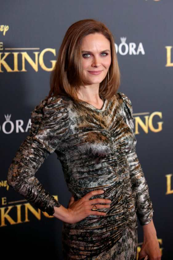 "HOLLYWOOD, CALIFORNIA - JULY 09: Emily Deschanel attends the World Premiere of Disney's ""THE LION KING"" at the Dolby Theatre on July 09, 2019 in Hollywood, California. (Photo by Jesse Grant/Getty Images for Disney)"