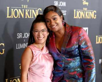 "HOLLYWOOD, CALIFORNIA - JULY 09: Ali Wong and Tiffany Haddish attend the World Premiere of Disney's ""THE LION KING"" at the Dolby Theatre on July 09, 2019 in Hollywood, California. (Photo by Jesse Grant/Getty Images for Disney)"