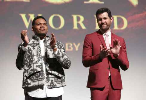 "HOLLYWOOD, CALIFORNIA - JULY 09: Chance The Rapper and Billy Eichner attend the World Premiere of Disney's ""THE LION KING"" at the Dolby Theatre on July 09, 2019 in Hollywood, California. (Photo by Jesse Grant/Getty Images for Disney)"