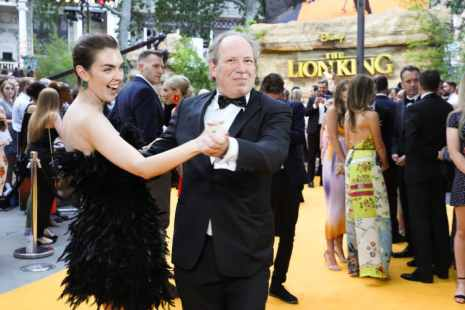 Zoe Zimmer and Hans Zimmer (R) attend the European Premiere of DisneyÕs ÒThe Lion KingÓ at the Odeon Leicester Square on 14th July 2019 in London, UK