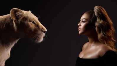 THE LION KING - (L-R) Nala and Beyoncé Knowles-Carter. Photo by Kwaku Alston. © 2019 Disney Enterprises, Inc. All Rights Reserved.