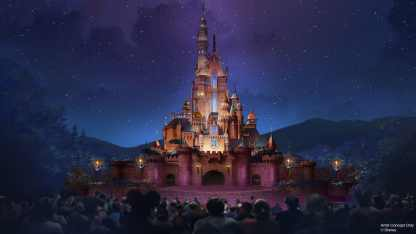 Hong Kong Disneyland will celebrate some of the greatest animated stories of all time when the park's castle transforms into The Castle of Magical Dreams. Drawing inspiration from 13 beloved Disney stories featuring princesses and heroines, the castle will feature adornments like Snow White's apple, Cinderella's coach, and Belle's rose. The castle will be a canvas for new entertainment, including a daytime show and nighttime spectacular, and will be home to a new Bibbidi Bobbidi Boutique where children can receive royal transformations. (Disney)