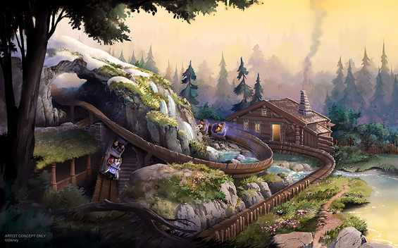 As part of the multi-year transformation of Hong Kong Disneyland, guests will be able to visit the world of Frozen, complete with all its sights, sounds, cuisine, and traditions. The area will feature a new coaster called Wandering Oaken's Sliding Sleighs that takes guests on a winding journey through the kingdom. (Disney)
