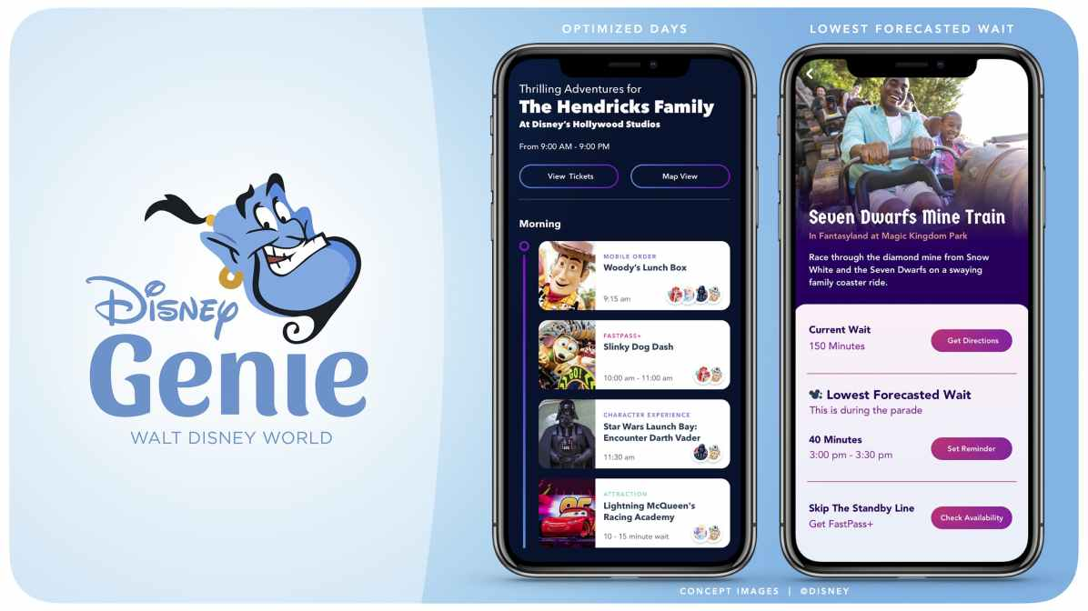 Planned to debut in late 2020, a revolutionary new planning tool will help guests customize their Walt Disney World Resort vacations in Florida. Using Disney Genie, daily itineraries tailored to guests' interests will become a reality, and itineraries can be custom built and curated for princesses, thrill seekers, foodies, families, and more. (Disney)