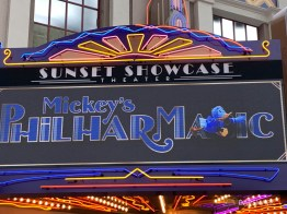 Mickeys PhilharMagic Entrance Sunset Showcase Theater-3