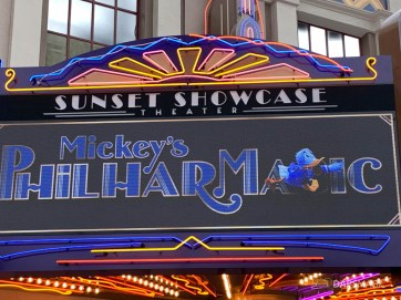 Mickeys PhilharMagic Entrance Sunset Showcase Theater-3