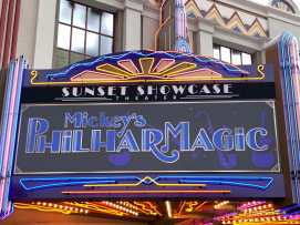 Mickeys PhilharMagic Entrance Sunset Showcase Theater-4